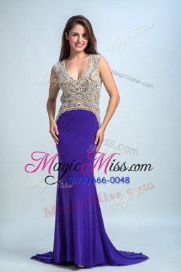 Fancy Chiffon Sleeveless Floor Length Celeb Inspired Gowns and Beading