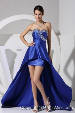 Beading Decorate Bust Sweetheart Neckline High-low 2013 Prom Dress