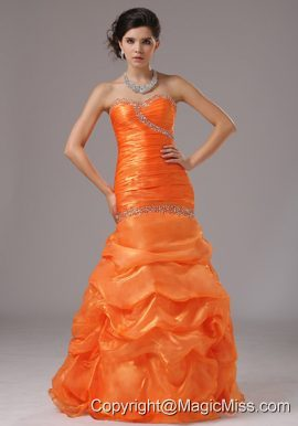 Mermaid Beaded Decorate Bust and Ruched Bodice For 2013 Prom Dress In Alabama