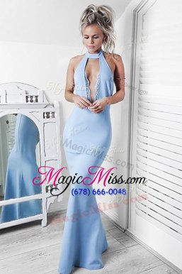 Custom Fit Mermaid Stretch Satin Sleeveless Floor-length Red Carpet Prom Dress 1