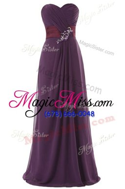 Flirting Floor Length A-line Sleeveless Red and Blue and Purple Red Carpet Prom Dress Zipper