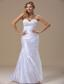 Mermaid Sweetheart Lace and Ruched Bodice For Wedding Dress