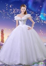 Elegant Off the Shoulder Cinderella Quinceanera Dresses in White for 2015 Summer