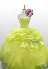 2015 Popular Paillette and Beaded Quinceanera Dresses in Organza