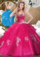 Popular Beading Quinceanera Gowns with Appliques for 2016