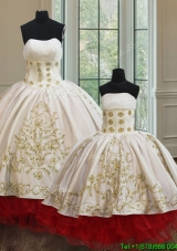 New Arrivals Organza and Taffeta Princesita Quinceanera Dresses with Embroidery and Ruffled Layers