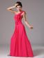 Stylish Red One Shoulder Ruched Decorate Bust Prom Dress With Floor-length In New Milford Connecticut