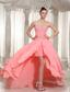Custom Made Prom Dress With Watermelon Chiffon Beaded Decorate