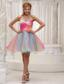 Lovely Ombre Color Prom / Homecoming Dress For 2013 Organza With Hand Made Flower Sweetheart Ruched Bodice