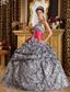 Popular Ball Gown Sweetheart Floor-length Zebra Quinceanera Dress