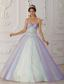 Multi-Color A-Line / Princess Sweetheart Floor-length Taffeta and Tulle Beading and Sequins Quinceranera Dress