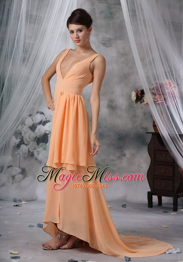 Clive Iowa Sexy High Slit 2013 Prom Evening Dress Light
