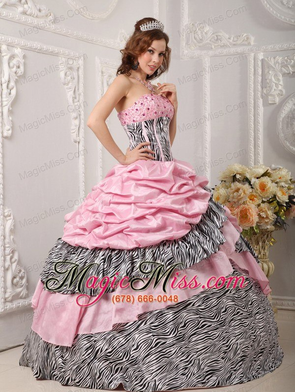 Astonishing Romantic Ball Gown Strapless Floor Length Taffeta And Zara Beading Short Hairstyles Gunalazisus