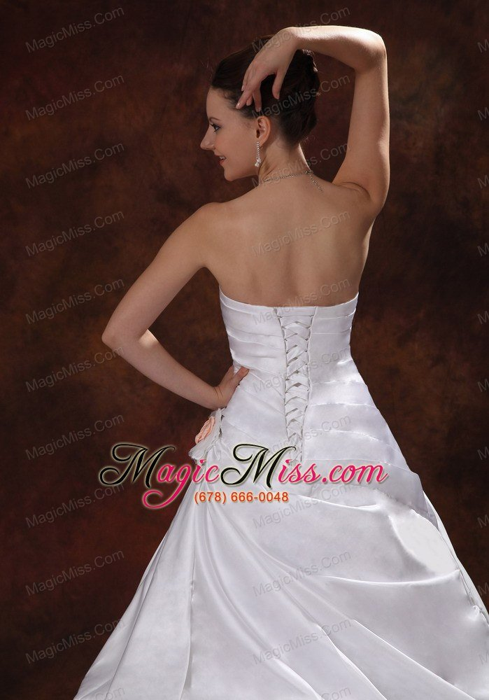 wholesale elegant hand made flowers sweetheart wedding dress with chapel train taffeta in columbus georgia