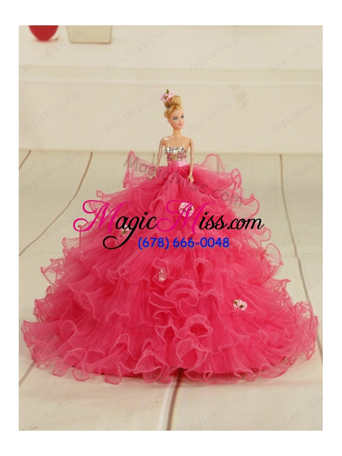 0d03d94749c ... wholesale ball gown beading and ruffles 2015 princesita dress in rose  pink and black