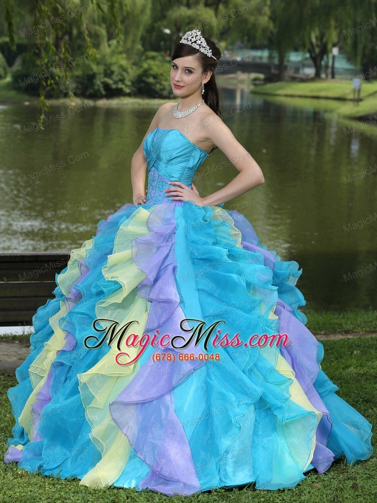 Discount Ball Gown Sweetheart Ruffles and Beaing Floor-length