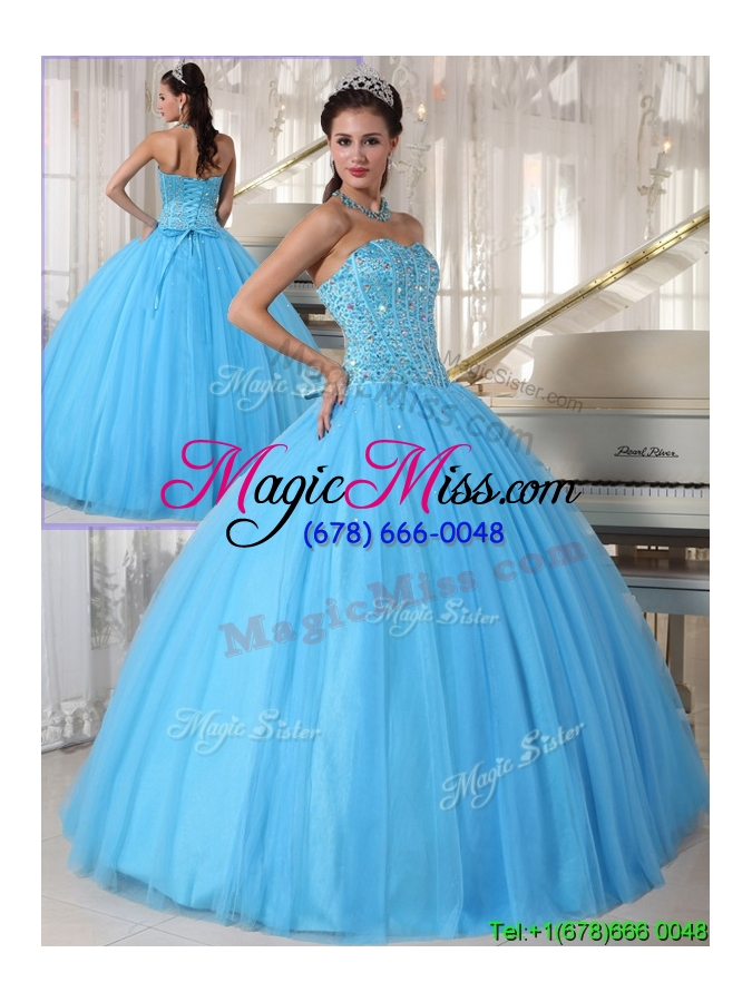 Modern Sweetheart Ball Gown Beading Plus Size Quinceanera Dresses ...