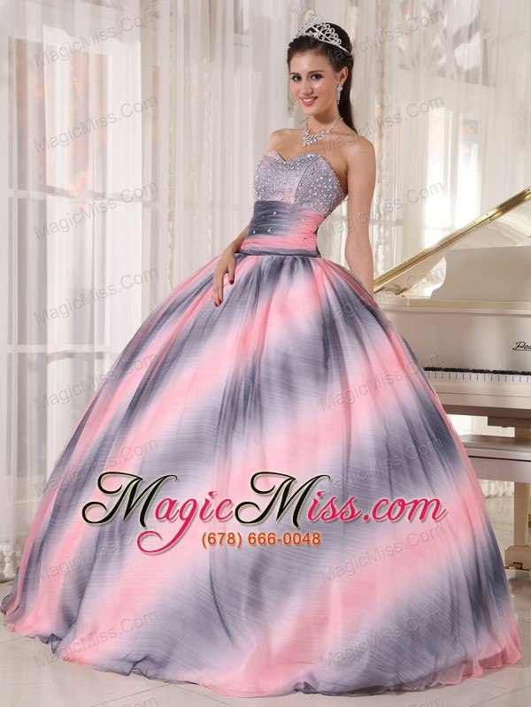 b45b6de7bee wholesale ombre color ball gown sweetheart floor-length chiffon beading and  ruch quinceanera dress ...