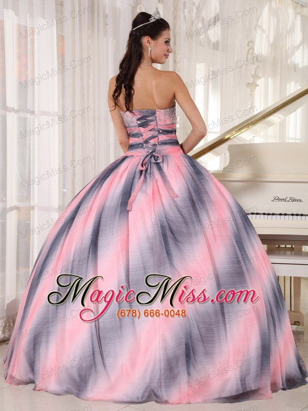 94a7e0eb3f1 ... wholesale ombre color ball gown sweetheart floor-length chiffon beading  and ruch quinceanera dress ...