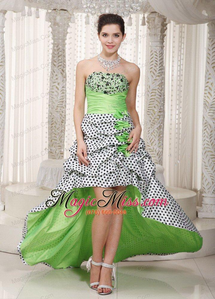Green High Low Prom Dress