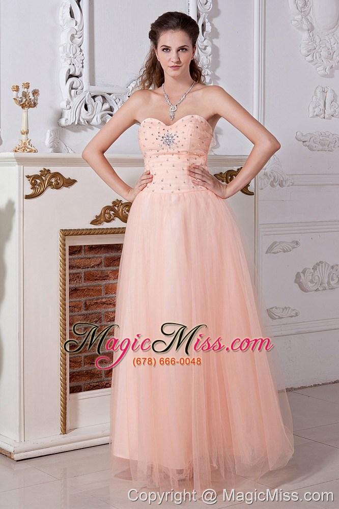 Light Peach Prom Dress