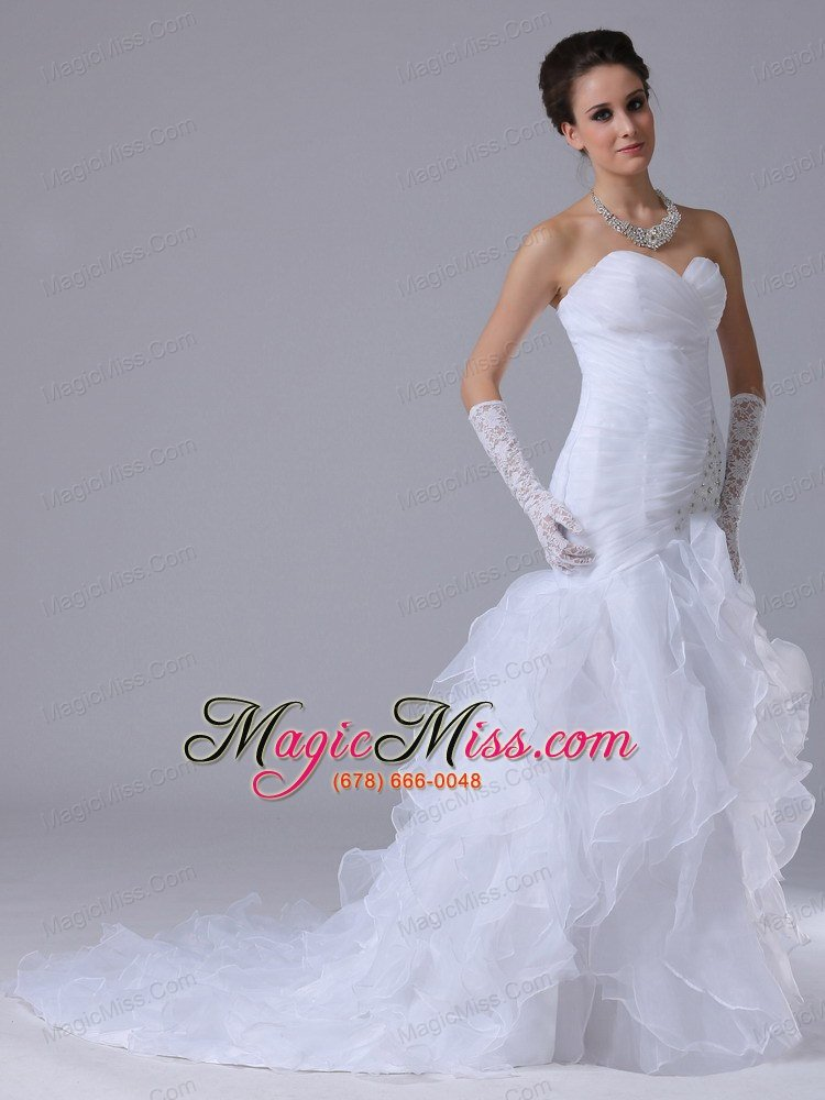 Ruched bodice mermaid sweetheart sweetheart 2012 boone for Wedding dresses in iowa