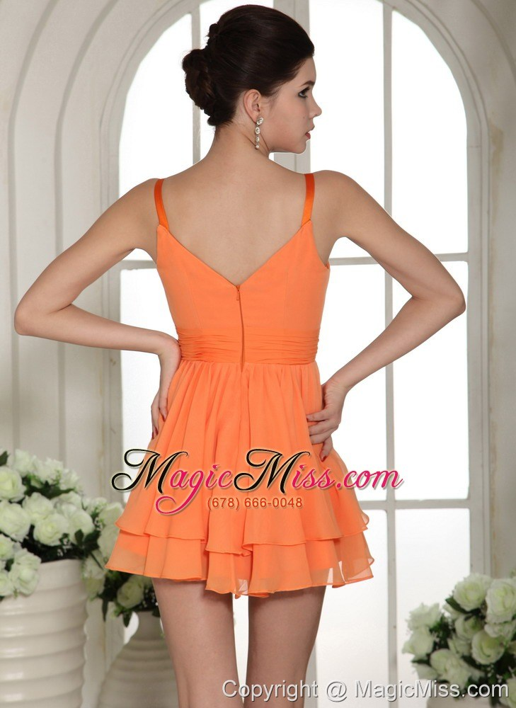 wholesale orange mini-length straps club cocktail dress in madison