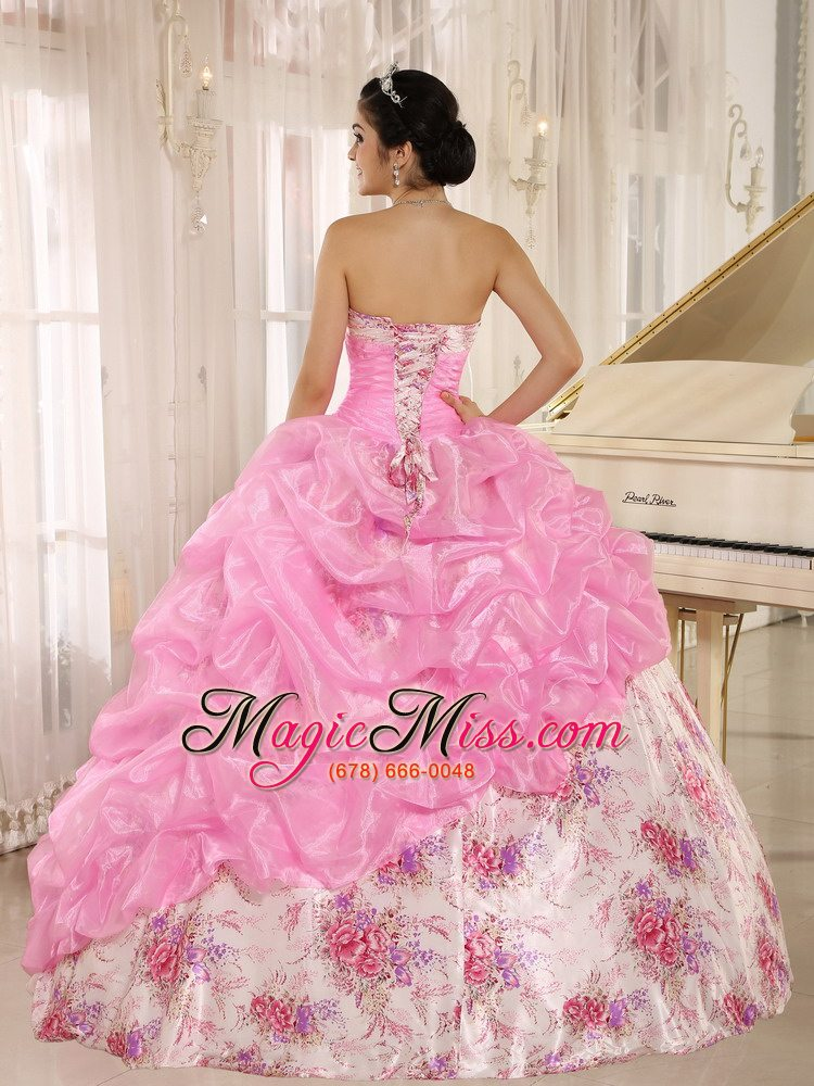 418dd8d891c ... wholesale printing sweetheart beaded and pick-ups for rose pink  quinceanera dress for custom made ...