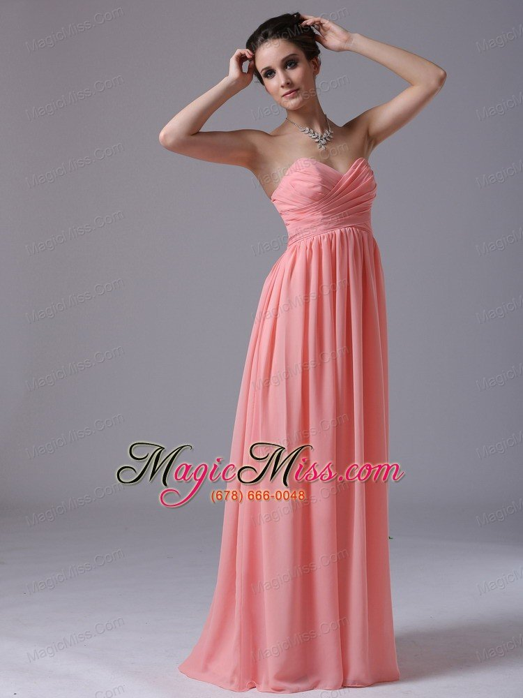 Watermelon Sweetheart Floor-length 2013 Prom Dress Ruched In Ann ...
