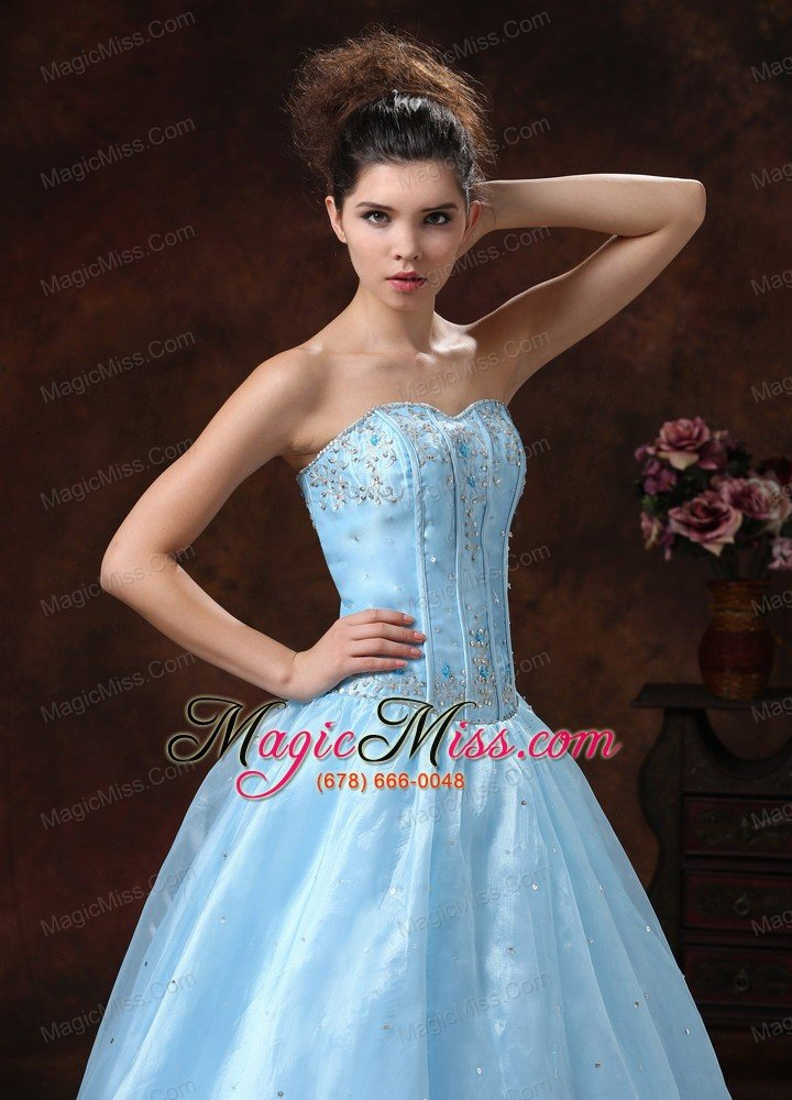 Baby Blue Appliques Bodice and Sweetheart In Carson City For Prom ...